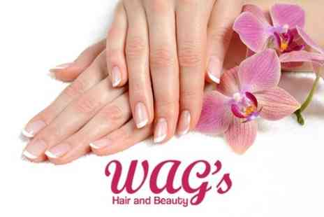 WAGs Hair and Beauty - Gelish French Manicure and Pedicure - Save 62%