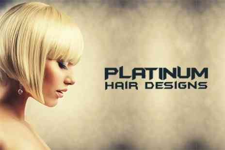 Platinum Hair Design - Restyle and Blow Dry With Conditioning Treatment - Save 48%