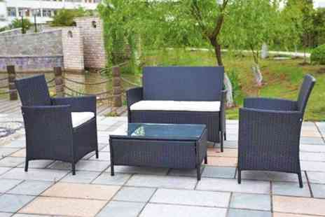 GRS Global - Rattan Garden Table and Chairs Set - Save 68%