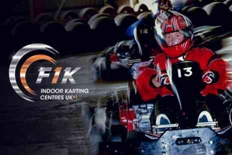 F1K Indoor Karting - 50 Lap Indoor Karting Experience - Save 56%