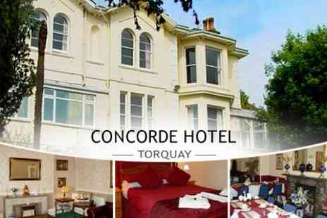 Concorde Hotel - In Torquay One Night Stay For Two or Three With Breakfast - Save 50%
