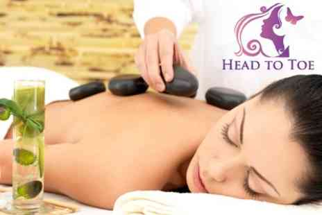 Head To Toe - Swedish or Hot Stone Massage Plus Deluxe Facial and Thai Leg Exfoliation - Save 59%