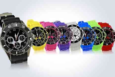 Love Crystal - Two Stylish unisex jelly watches - Save 50%