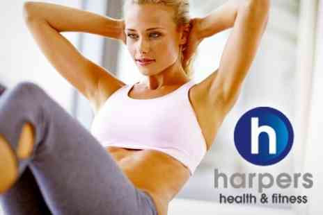 Harpers Fitness - Ten Gym Passes For One Including Classes and Swimming - Save 50%
