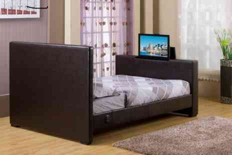"Sleep Softly - Lap of Luxury TV Bed including 24"" TV and Optional Mattress - Save 65%"