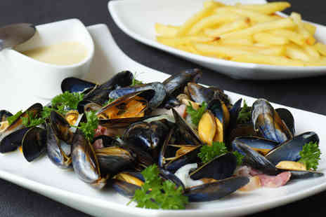 Hidden Treasure - 1kg Mussels and Two Portions of Chips for 2 - Save 63%