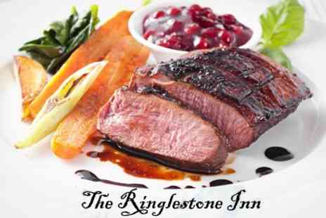 The Ringlestone Inn - Two Course Pub Meal With Wine For Two - Save 61%