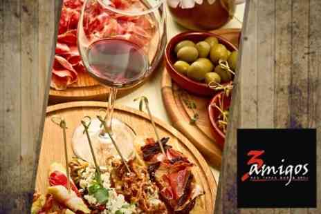3 Amigos - Six Tapas Dishes For Two Plus Sangria Each - Save 57%