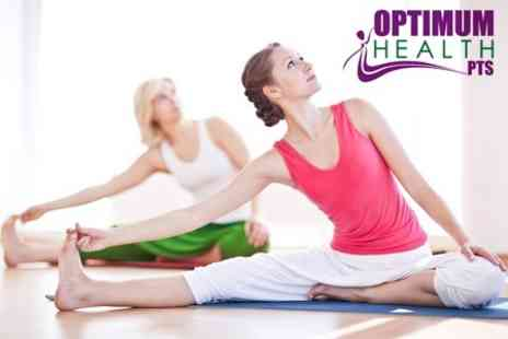 Optimum Health PTS - Yoga, Pilates or Kettlebells Five Classes - Save 69%