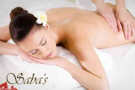 Sabas Beauty Studio - Back, Neck and Shoulder Massage Plus Mini Facial, Manicure and Pedicure - Save 77%