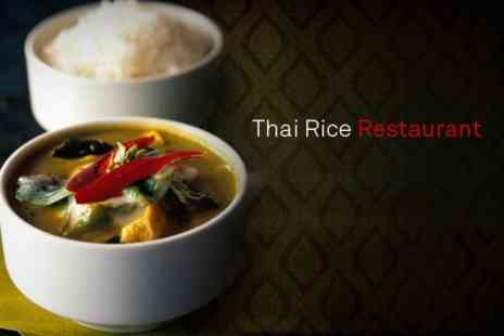Thai Rice - Thai Meal For Two - Save 42%