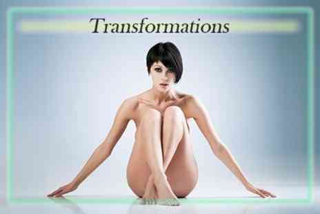 Transformations - Laser or IPL Hair Removal Six Sessions on Two Small, One Medium or One Large Area Including Full Leg - Save 25%