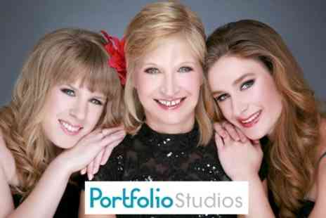 Portfolio Studios - Mother and Daughter Photoshoot With Makeover and Bubbly Plus Enhanced Image - Save 92%