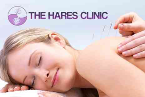 The Hares Clinic - Choice of Sports Massage, Osteopathy or Acupuncture Session - Save 63%