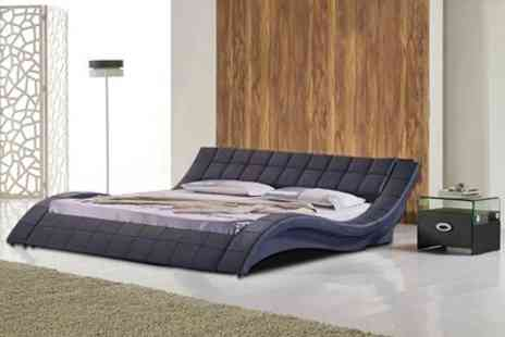 GRS Global - Cosmo Designer Faux Leather Double Bed - Save 68%