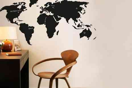 Spicy Decor - Chalkboard Art Map Decal - Save 63%