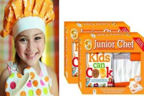 The Book Stalk - Junior Chef Gift Set including recipe book, apron, chefs hat and more - Save 50%