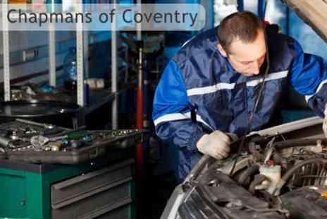 Chapmans of Coventry - Car Service With Oil and Filter Change, Plus Brake Safety Check - Save 85%