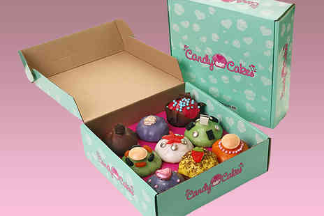 Candy Cakes - Box of 9 personalised gourmet cupcakes - Save 65%