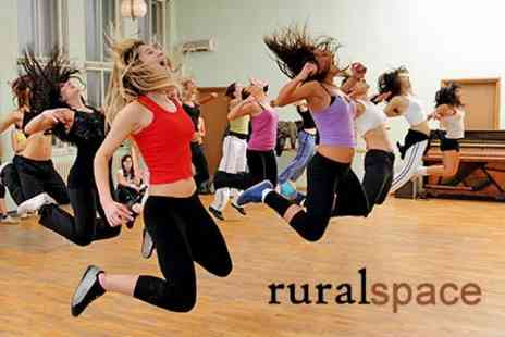 Rural Space - Twelve Fitness Classes Such as Pilates or Yoga - Save 87%