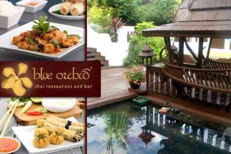 Blue Orchid Thai Restaurant & Bar - Two Course Thai Meal For Two With Sides and Coffee - Save 59%