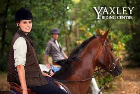 Yaxley Riding Centre - Two Hour Horse Riding Experience For One - Save 50%