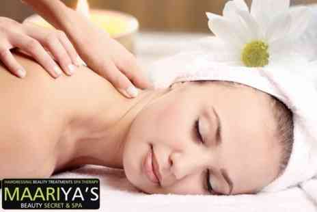 Maariyas Beauty Secret & Spa  - Facial With Back, Neck, and Shoulder Massage - Save 67%