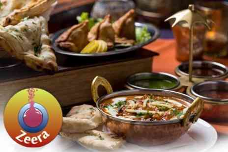 Zeera - Two Courses of Indian Fare With Rice or Chips For Two - Save 51%