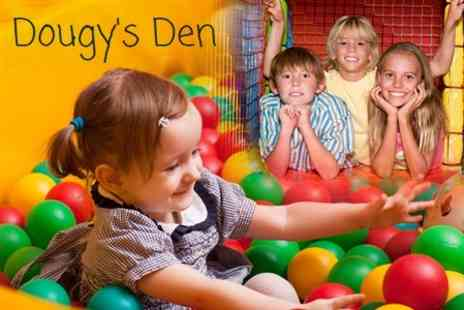 Dougys Den - Soft Play Centre Two Hour Visit For Two Children With Hot Drinks for Two Adults - Save 63%