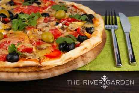 The River Garden - Pizza or Calzone For Two With Sides - Save 56%