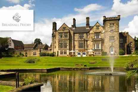 Breadsall Priory - Country Club Day For Two Cakes and Coffee With Use of Leisure Facilities and Fitness Classes - Save 51%