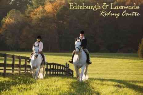 Edinburgh and Lasswade Riding Centre - Horse Riding Lesson, Trek or Hack - Save 63%