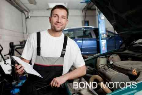 Bond Motor Services - MOT With Minor Repairs and Fluid Top Up - Save 64%
