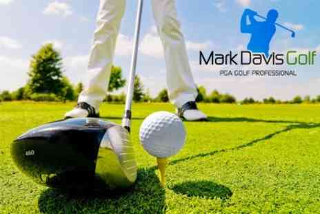 Mark Davis Golf - Three PGA Golf Lessons Including Video Swing Analysis - Save 73%