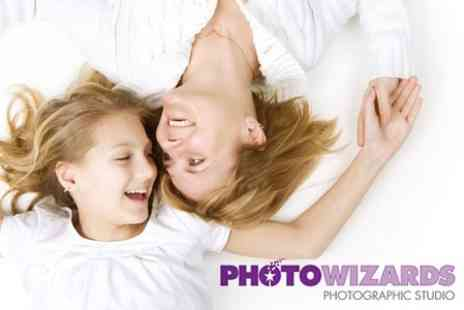 Photo Wizards Photographic Studio - Mothers Day Photoshoot and Three Mounted Prints And CD of Images - Save 84%