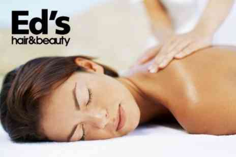 Eds Hair & Beauty - One Hour of Massage One Session - Save 50%