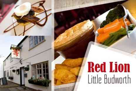 The Red Lion - Two Course Pub Meal For Two With Wine - Save 53%