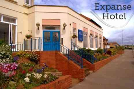 The Expanse Hotel - In Bridlington One Night Stay For Two With Cream Tea - Save 62%
