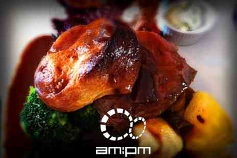 AM PM - Sunday Roast Beef For Two - Save 50%