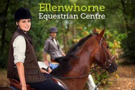 Ellenwhorne Equestrian Centre - Half Day Including Stable Management and Riding - Save 60%