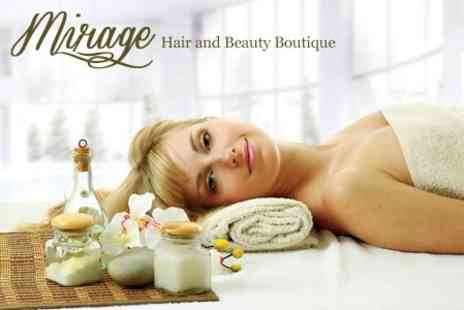 Mirage Hair and Beauty - Pamper Package Up to Two Hours of Treatments Such as Massage and Facial - Save 56%