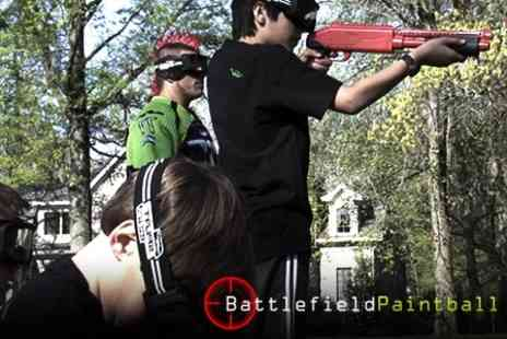 Battlefield Paintball - Kids Splatball Party With Lunch For Six - Save 64%