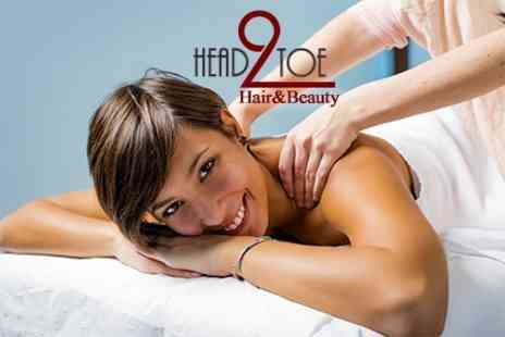 Head 2 Toe Hair and Beauty - Back, Neck and Shoulder Massage and Facial - Save 62%