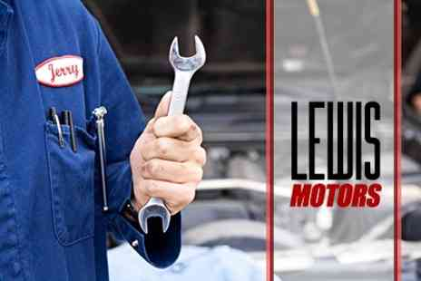 Lewis Motors - MOT Test and Health Check For One Vehicle - Save 58%