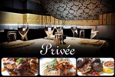 Privee Knightsbridge - Three Course Lebanese Meal For Two With Champagne Cocktails and Cabaret Entertainment - Save 68%