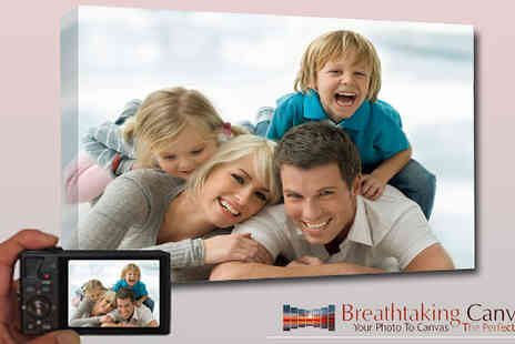 Breathtaking Canvas - Decorate your home and office with your favourite photograph canvas 16 x 24 inch - Save 74%