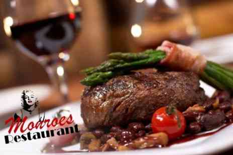 Monroes Restaurant - Two Course Pub Meal With Wine For Two - Save 56%