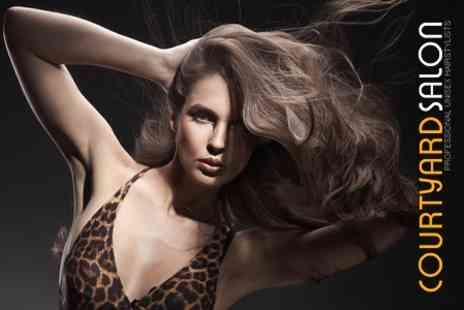 Courtyard Salon - Wash, Cut and Blow Dry - Save 53%