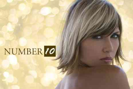 Number 10 - Half Head Highlights or Full Head Colour With Restyle and Blow Dry - Save 74%