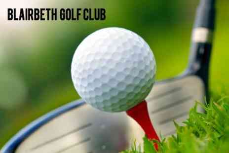 Blairbeth Golf Club - Day of Golf For Two or Four - Save 60%